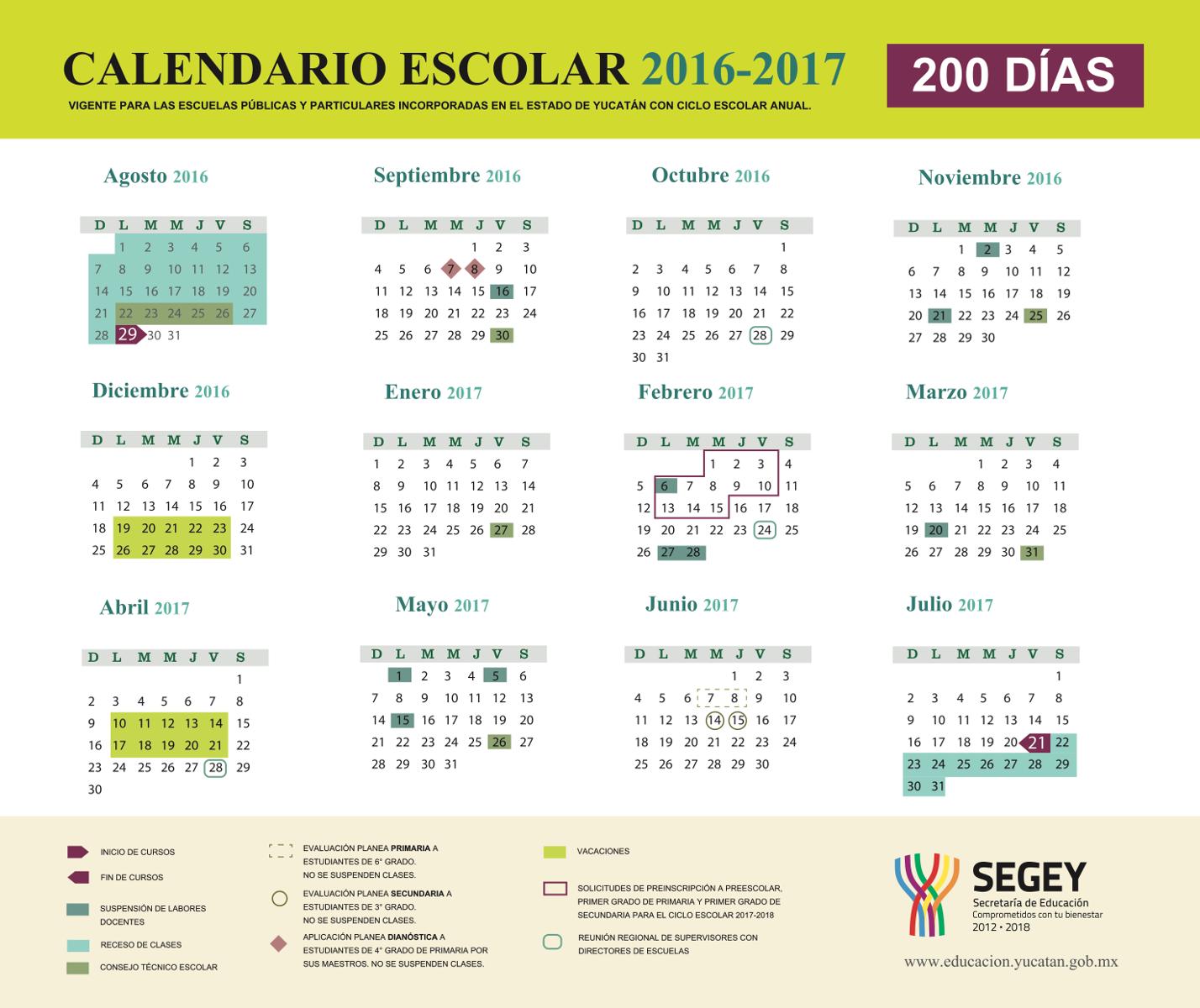 Calendario 2016 - 2017